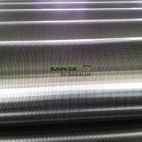 Pantalla envuelta de forma de V del tubo de la ranura del alambre filtro de 200 micrones