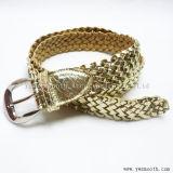 Mode Femmes PG de la courroie métallique tressé en or de la broche robe de boucle