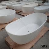 Banhos autônomos de resina de pedra de forma oval para venda