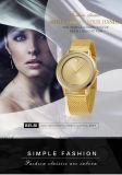 Golden, Schwarzes. Farben-Frauen-Armbanduhr Busines des Weiß-drei einfacher Uhr-Vorwahlknopf-Entwurf für Edelstahl-Quarz-Batterie-analoge Uhr der Dame-Ultra-Thin