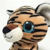 Cute Sitting Tiger Nouveau motif Soft Plush Big Eyes Toy