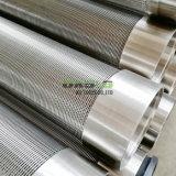 304 de Cilinders van de Pijp van het Scherm van de Draad van de Wig van het roestvrij staal