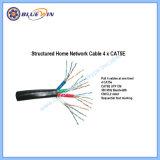 Livré à domicile et le câble réseau du bureau 4xcat5e