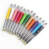 Coloridas luces LED Pantalla Táctil multifunción escrito de promoción de suministros de oficina Papelería Bolígrafo de metal (ZH-1183)