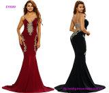 Оптовая продажа дешево плюс платье вечера Mermaid спагеттиа размера