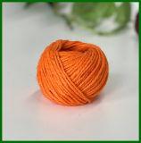 Filé teint de jute pour la fabrication de dessin-modèle (orange)