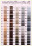 Stickerei-Gewinde-Farben-Karte des Polyester-75D