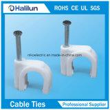 Clips de cable más baratos del círculo de los PP con el clavo de acero
