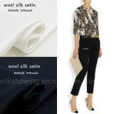 Leopard gedrucktes Wolle-Silk Satin-Gewebe für Büro-Dame Shrit