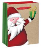 백색 색깔 최신 각인 종이 봉지 크리스마스 선물 부대