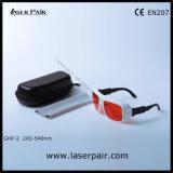 Vidros de segurança do O.D7+@200-540nm/laser para o Excimer, ultravioleta, lasers verdes com frame ajustável 36