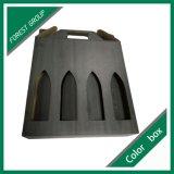 3パックのマットの黒い家の整形ワインボックス