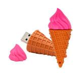 과일 USB 섬광 드라이브 딸기 수박 PVC USB 지팡이