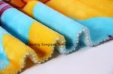 Franela impresa del poliester/tela coralina del paño grueso y suave - 14012-10 1#