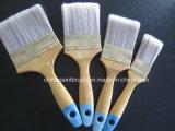 Material Pet pintar el cepillo con mango de madera