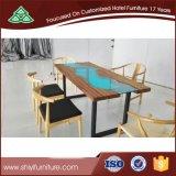 호텔 가구 식사를 위한 의자를 가진 단단한 지상 장방형 테이블