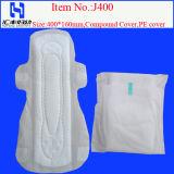 Guardanapo sanitário das senhoras descartáveis finas brandamente super do uso do dia para almofadas sanitárias das mulheres e das senhoras do algodão
