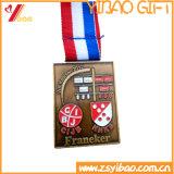 Moneda colorida de la cinta de Madal y del regalo de encargo de la insignia del medallón (YB-HR-35)