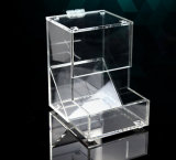 カスタムアクリルキャンデーの甘いクッキーの軽食のパンの記憶装置の例ボックス