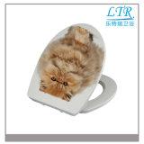 Reizende Katze-weicher Arbeitskarte-Toiletten-Sitz mit Scharnier des Edelstahl-SUS304