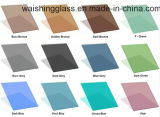 Wsgの高品質の青銅、灰色、青、緑、ピンクの緩和された染められたフロートガラス