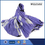(WV6-3/4) 형식 색깔 15%Wool 85%Visco 남자 스카프