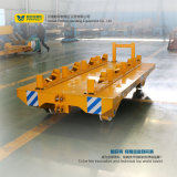 Carro de acero de la plataforma que se ejecuta en los carriles para las bobinas