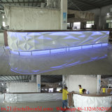 Curvado de mármol blanco Café LED Barra de Bar Cafetería Mobiliario Comercial