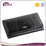 Монетка женского портмона бумажника неподдельной кожи бумажников женщин длинняя морщит бумажник крокодила бумажника повелительниц держателей