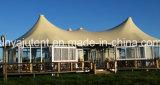 Estructuras de Refugio Cubierta de PVC Metal Frame Glamping Tent Hotel
