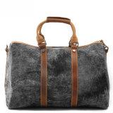 洗浄されたキャンバスの革Handstrapの人のハンドバッグ屋外旅行袋(RS-1011)