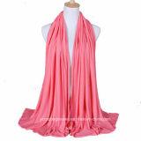 Novo lenço grande Hijab de cor sólida larga