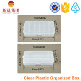Caja de plástico organizada de 5 compartimentos