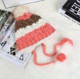 Der Damen wärmen strickende Earflap Hüte und Schutzkappen