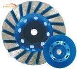 Поделенный на сегменты диамантом абразивный диск чашки Turbo