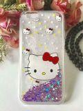 Caixas coloridas do telefone da pintura do desenhador com Glitter para dentro para Samsung