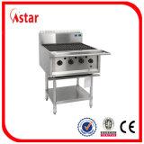 Gril de barbecue de gaz de 5 becs pour le matériel commercial de cuisine