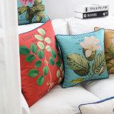 Algodão Linho Imprimir Travesseiro decorativo para limpeza de cama