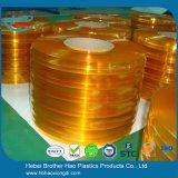 창고 고품질 주황색 명확한 매끄러운 PVC 커튼 지구