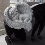 Shanxi Black Granite Cherub Baby Angel Headstones