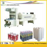 Machine semi automatique en plastique d'emballage en papier rétrécissable de film de bouteilles/machine à emballer de rétrécissement