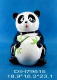 Vaso Panda-A forma di di ceramica dipinto a mano biscotto/della caramella