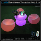 현대 PE 물자 옥외 LED 가구 커피용 탁자