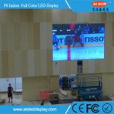 세륨 RoHS를 가진 실내 풀 컬러 LED 텔레비젼을 광고하는 HD P6