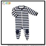 Chemise de vêtements de bébé d'impression de véhicule la longue aboie barboteuse