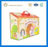 Preciosa casa Pacakging juguete para niños hechos a mano en forma de caja de regalo (con ventana y mango)