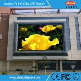 P6 полноцветный светодиодный дисплей для установки вне помещений неподвижного стекла с FCC
