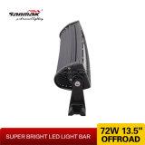 gebogener LED heller Stab des Punkt-13 '' 72W der Flut-kombinierter Träger
