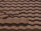 El color del azulejo revestido techo de metal / metal recubierto de piedra del azulejo de azotea