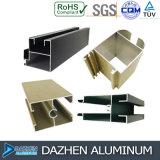 Profil en aluminium d'extrusion en aluminium pour le tissu pour rideaux personnalisé de porte de guichet